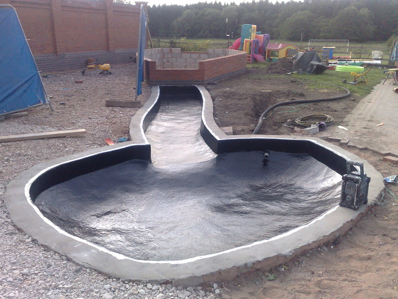 new build fish pool fibreglass fish pools project by. Black Bedroom Furniture Sets. Home Design Ideas